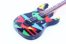"""RGM166 John Petrucci """"Cubist"""" Picasso Design Miniature Guitar"""