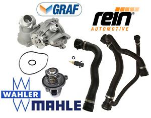OEM Water Pump Thermostat Upper Lower Hose Sensor Kit BMW V8 750i 750Li 06-08