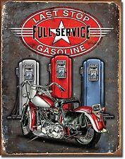 Last Stop Gasoline metal sign 400mm x 320mm  (de)  REDUCED