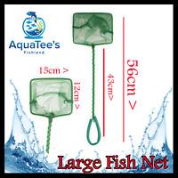 AQUATEE AQUARIUM LARGE NET FOR FISH TANK 15CM POND MARINE SHRIMP NANO SPONGE