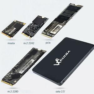 SSD mSATA 2,5 inch M.2 2280 2242 PCIe Hard Internal SATA 3 Solid State Drive