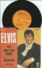 Elvis Presley:Don't cry Daddy/Rubberneckin:UK RCA:1969