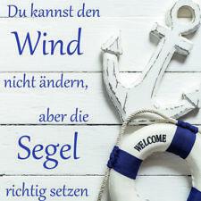 Bilder Wandbild Keilrahmen Leinwand Sprüche Texte Maritim Meer 35X35 Art.3535933