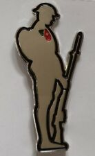 World War One Soldier Silhouette pin badge 40mm x 5