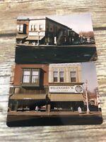 2 Kodachrome Prints 1950s 1956 Willoughbys Storefront Cedar Falls Iowa Americana