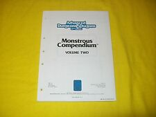 MC2 MONSTROUS COMPENDIUM VOLUME TWO DUNGEONS & DRAGONS AD&D 2ND EDITION - 1