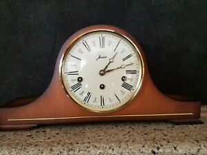 Vintage Haid Westminster chime mantle clock Walnut Model 1050-020 21 jewels