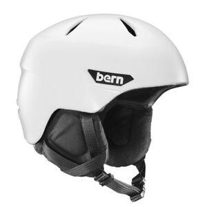BERN NEW Men's Weston Snow Helmet Satin White w/ Black Liner BNWT