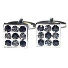 BLACK & WHITE CRYSTAL SILVER GEMELLI con Sacchetto Regalo Diamanti Formali presenti