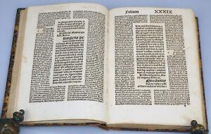VOLLSTÄNDIGE INKUNABEL POSTILLE GUILLERMUS SUPER EPISTOLAS ANTON KOBERGER 1496