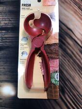 Smart Scoop Squeeze Handle Nonstick Ice Cream Scooper Red