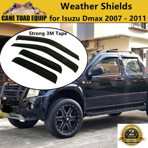 Weather shields for ISUZU D-MAX Dual Cab 08-12 model Holden Rodeo Colorado Tinte