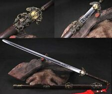 """40.55""""Hand Forge Chinese Sword """"Tai Chi Jian""""Carbon Steel Alloy Fitting#015"""