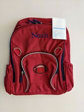 Pottery Barn Kids Backpack, Red, Football on Front, Noah, Large, New