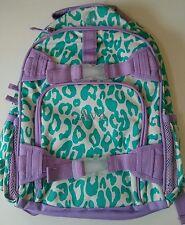 Pottery Barn Kids Small Mackenzie Purple Mint Green Cheetah Backpack name AVA