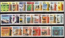 Zimbabwe 1985/88 2nd Defintive National Infrastructure set of 22