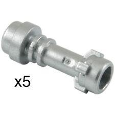 (5) Lego Metallic Silver Lightsaber Hilts, Weapon, Handle Star Wars Minfigure