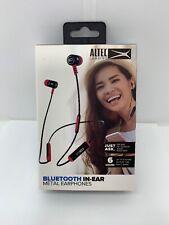 Altec Lansing Bluetooth Earbuds MZX148-BLKRED In Ear Metal Earphones Red/Black