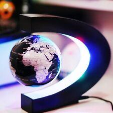 Hot C Shape LED Magnetic Levitation Floating Globe World Map Rotating Home Decor