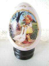 Hummel Goose Girl Porcelain Egg Danbury Mint Original Box 1993
