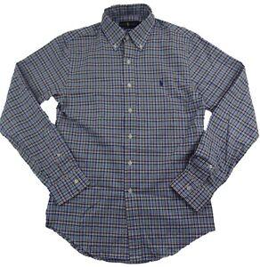 Polo Ralph Lauren Men's Slim Fit Checkered Plaid Cotton Button Down Dress Shirt