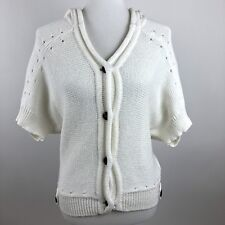 Trina Turk Womens Sweater Medium Ivory Top Bat Wing NEW Small Knit