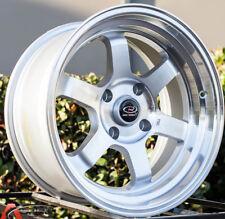 15X9 +0 ROTA GRID-V SILVER 4X100 WHEELS FITS CIVIC SI MIATA BMW E30 ( Set of 4 )