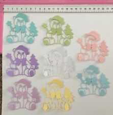 Die Cuts! 8 Pc 'Christmas Teddy Bear' Baby First Tree Star Babies 1st You Choose