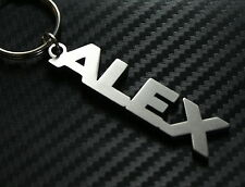 ALEX Personalised Name Keyring Keychain Key Fob Bespoke Stainless Steel Gift