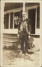 President Calvin Coolidge Father - John Coolidge (I Think) Real Photo Postcard