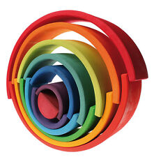 Grimm's Eco-Friendly Waldorf X Large Rainbow - Wooden, Organic, Best Toy 2 3 4 5