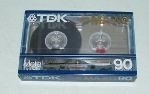 TDK NEW IN PACKAGE Sealed MA-XG 90 Metal Position Digital Sound Cassette Tape