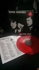 Super Heroines Cry for Help RED LP Death Rock Eva O. S.Ross Del Mar R. Gothic