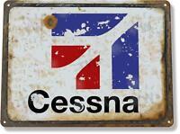 Cessna Aviation Airplane Hangar Aeronautical Metal Decor Sign