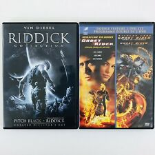 Action Dvd Lot - Pitch Black/Chronicles Riddick/Ghost Rider/Spirit of Vengeance