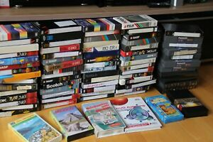 76 VHS Video Kassetten bespielt f.Leerkas.BASF SONY SVHS Videokassetten Konvolut
