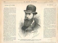 Henry Cholmondeley-Pennell Concours Tir Pigeons Monte-Carlo Monaco GRAVURE 1878