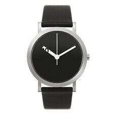"Normal Timepieces ""Extra Normal Grande"" Quarzo Acciaio Orologio Uomo Nero Pelle"