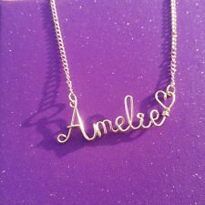 Custom Wire Name Necklace Personalized Handmade Wholesale Price Silver Plated