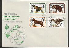 1976 Rhodesia/Zimbabwe FDC Animals