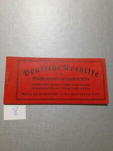 Deutsches Reich Markenheft Markenheftchen Deutsche Nothilfe komplett 1934 (8)