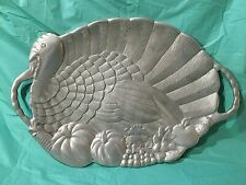 "Large Aluminum Turkey Platter by Vendange 24""x16"""