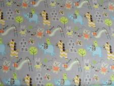 CRIB/TODDLER SHEET/FITTED/FLANNEL - BABY AMINALS PLAYTIME SLIDES & HOPSCOTCH