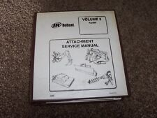 Bobcat IR Planer Attachment Volume 3 Factory Original Shop Service Repair Manual