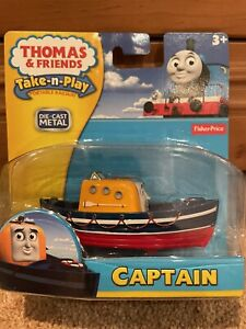 Thomas The Tank Engine Friends TAKE ALONG N PLAY CAPTAIN DIECAST BOAT NEW & BOX