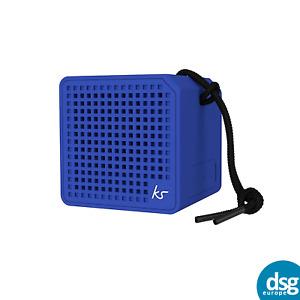 KitSound Boxi Mini Splash-Proof Portable Bluetooth Speaker, Blue