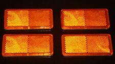 4x latéral ambré CLIGNOTANT réflecteur CAMPING-CAR CARAVANE CAMPING CAR CAMION