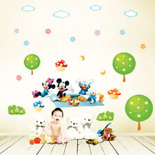 Mickey Minnie Mouse Donald Duck Wall Sticker Removable Kids Nursery Room Decal