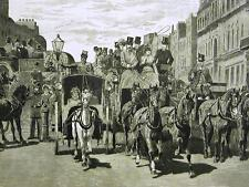 PICCADILLY LONDON IN SEASON COACHES 1870 Print Matted