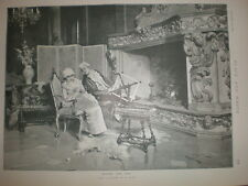 Before The Fire from P Bedini 1894 old print